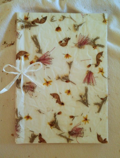 Handmade Flower Wrapping Paper And Gift Card Arts And Crafts